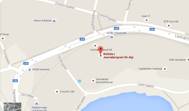 Karta | RixData Lantvärnsgatan 4