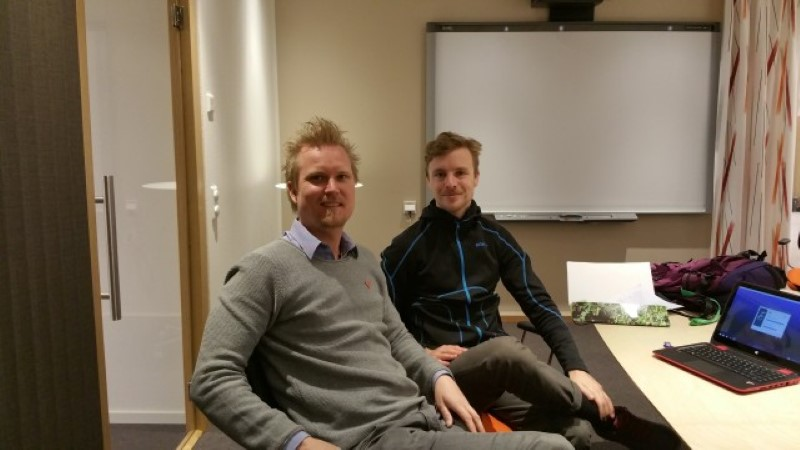 Simon Erlandsson kom idag för installation av WinEazy Guld journalprogram