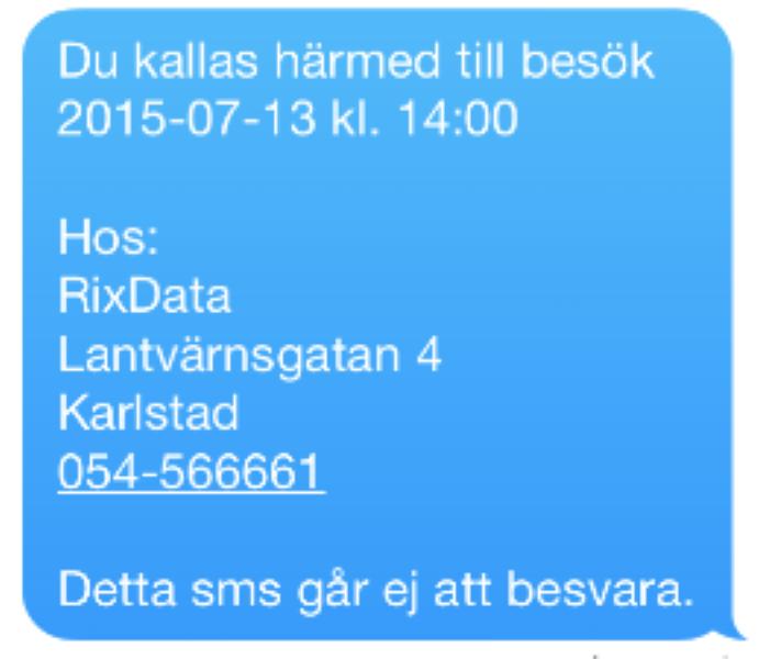 SMS-Kallelse