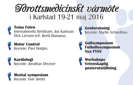 Idrottsmedicinsk Vårmöte 2016