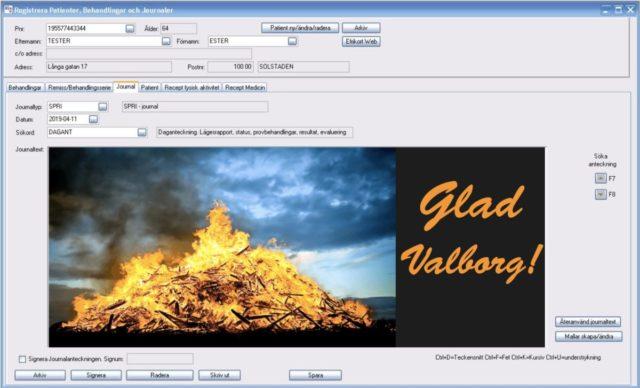 Trevlig Valborg - RixData journalprogram